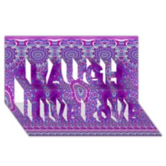India Ornaments Mandala Pillar Blue Violet Laugh Live Love 3D Greeting Card (8x4)