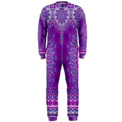 India Ornaments Mandala Pillar Blue Violet OnePiece Jumpsuit (Men)