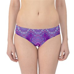 India Ornaments Mandala Pillar Blue Violet Hipster Bikini Bottoms