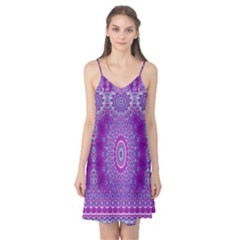India Ornaments Mandala Pillar Blue Violet Camis Nightgown