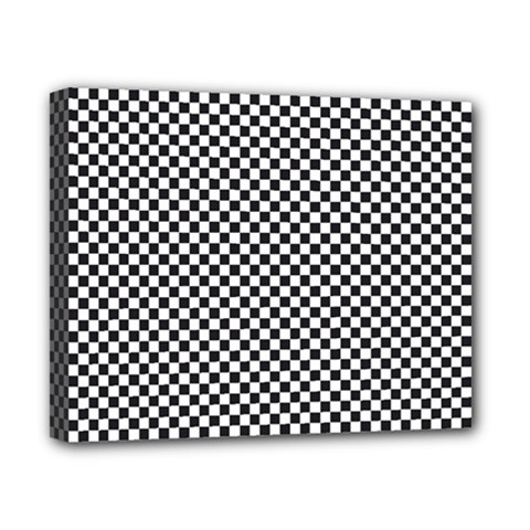 Sports Racing Chess Squares Black White Canvas 10  X 8  by EDDArt