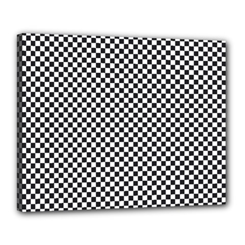 Sports Racing Chess Squares Black White Canvas 20  X 16  by EDDArt