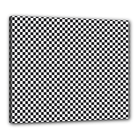 Sports Racing Chess Squares Black White Canvas 24  X 20  by EDDArt