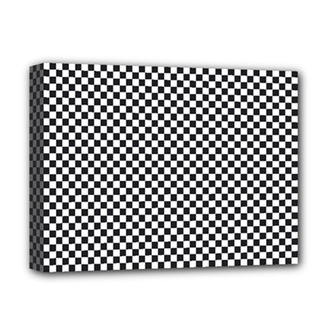 Sports Racing Chess Squares Black White Deluxe Canvas 16  X 12   by EDDArt