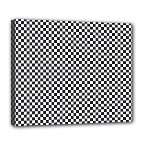 Sports Racing Chess Squares Black White Deluxe Canvas 24  X 20   by EDDArt