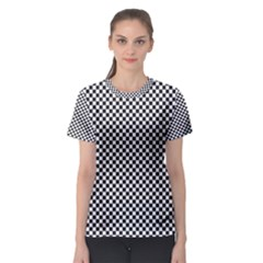 Sports Racing Chess Squares Black White Women s Sport Mesh Tee by EDDArt
