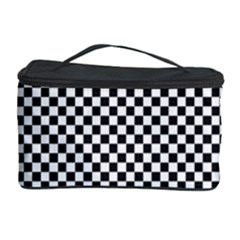 Sports Racing Chess Squares Black White Cosmetic Storage Case by EDDArt