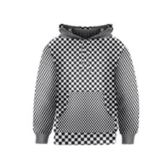 Sports Racing Chess Squares Black White Kids  Pullover Hoodie by EDDArt
