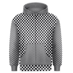 Sports Racing Chess Squares Black White Men s Zipper Hoodie by EDDArt