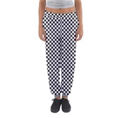 Sports Racing Chess Squares Black White Women s Jogger Sweatpants by EDDArt