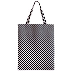 Sports Racing Chess Squares Black White Zipper Classic Tote Bag by EDDArt