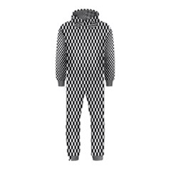 Sports Racing Chess Squares Black White Hooded Jumpsuit (kids) by EDDArt