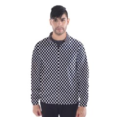 Sports Racing Chess Squares Black White Wind Breaker (men) by EDDArt