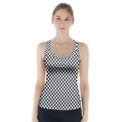 Sports Racing Chess Squares Black White Racer Back Sports Top by EDDArt