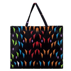 ;; Zipper Large Tote Bag
