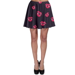 Pattern Of Vampire Mouths And Fangs Skater Skirt by CreaturesStore
