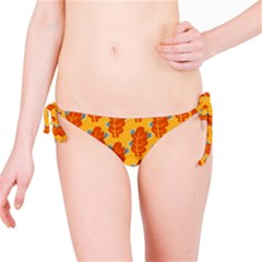 Bugs Eat Autumn Leaf Pattern Bikini Bottom by CreaturesStore