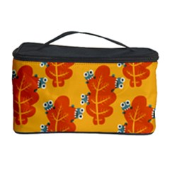 Bugs Eat Autumn Leaf Pattern Cosmetic Storage Case by CreaturesStore