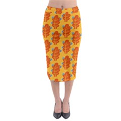 Bugs Eat Autumn Leaf Pattern Midi Pencil Skirt by CreaturesStore