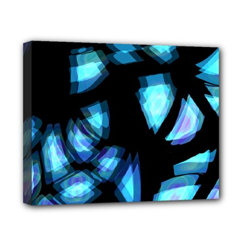 Blue light Canvas 10  x 8