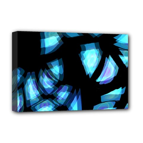 Blue light Deluxe Canvas 18  x 12