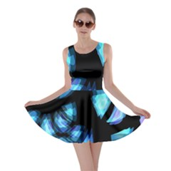 Blue light Skater Dress