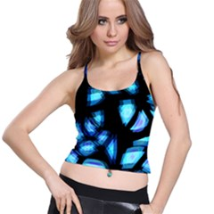 Blue light Spaghetti Strap Bra Top
