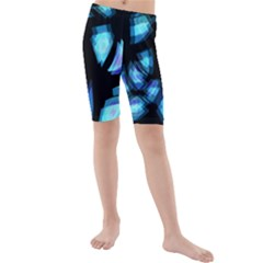 Blue light Kids  Mid Length Swim Shorts