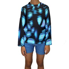 Blue light Kids  Long Sleeve Swimwear