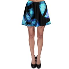 Blue light Skater Skirt
