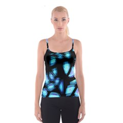 Blue light Spaghetti Strap Top