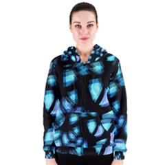 Blue light Women s Zipper Hoodie