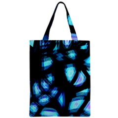 Blue light Zipper Classic Tote Bag