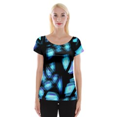Blue light Women s Cap Sleeve Top