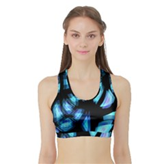 Blue light Sports Bra with Border