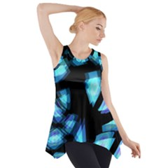 Blue light Side Drop Tank Tunic