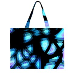 Blue light Zipper Large Tote Bag