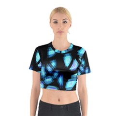 Blue light Cotton Crop Top