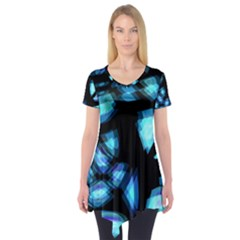 Blue light Short Sleeve Tunic
