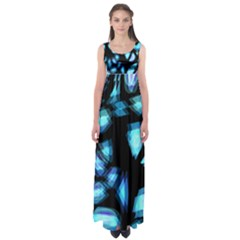 Blue light Empire Waist Maxi Dress