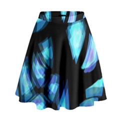 Blue light High Waist Skirt