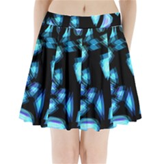 Blue light Pleated Mini Skirt
