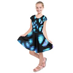 Blue light Kids  Short Sleeve Dress