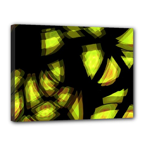Yellow Light Canvas 16  X 12  by Valentinaart