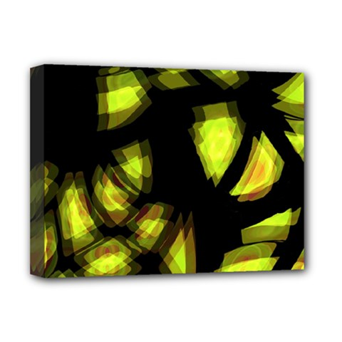Yellow Light Deluxe Canvas 16  X 12   by Valentinaart