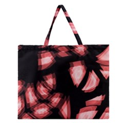 Red Light Zipper Large Tote Bag