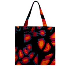 Hot, Hot, Hot Zipper Grocery Tote Bag by Valentinaart