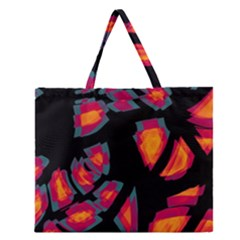 Hot, Hot, Hot Zipper Large Tote Bag by Valentinaart