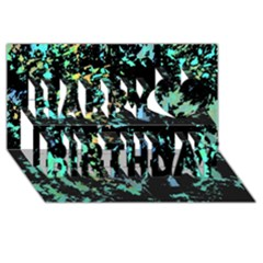 Colorful Magic Happy Birthday 3d Greeting Card (8x4) by Valentinaart