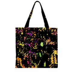 Good Mood Zipper Grocery Tote Bag by Valentinaart